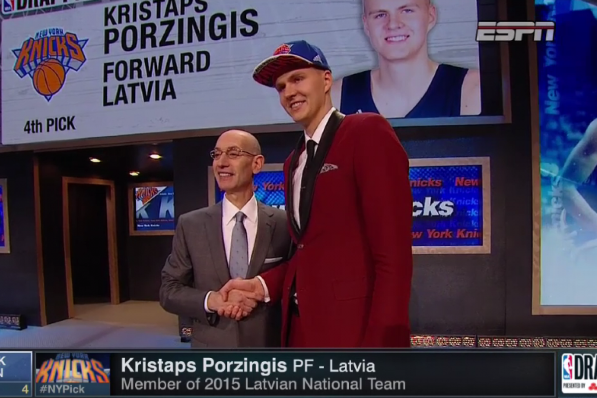 Kristaps Porzingis selected high in NBA Draft