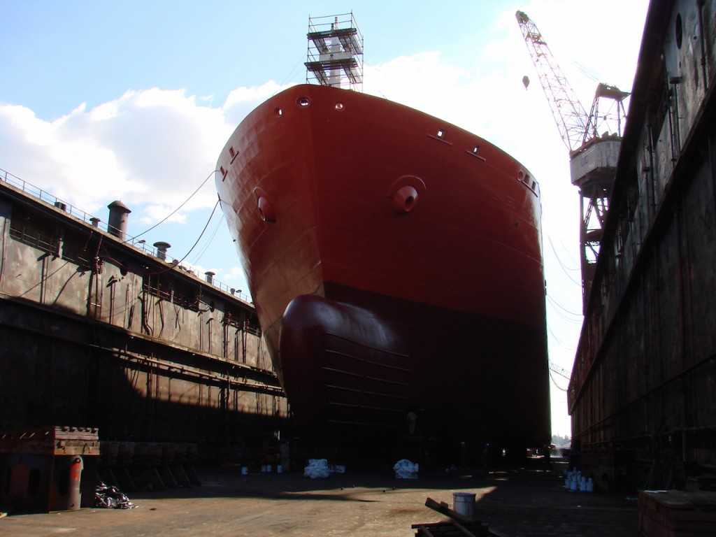 Ship repair at Riga Shipyard