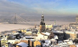 Riga gets covered in beautiful snow