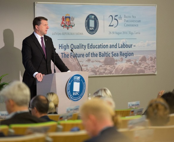 President Vejonis opens the 25th Baltic Sea Parliamentary Conference
